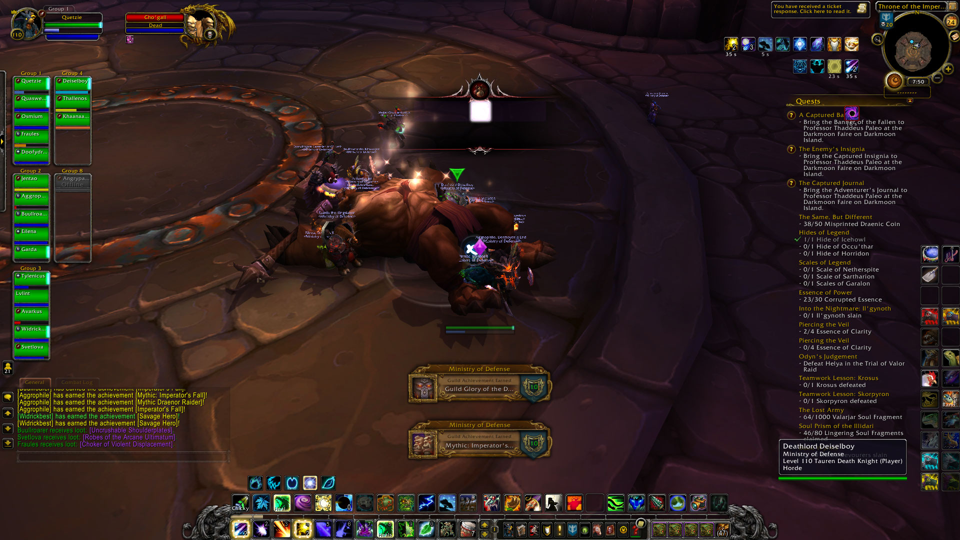 glory of the draenor raider run