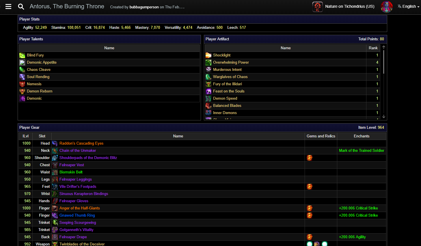Warcraft Logs for DPS   Ministry of Defense